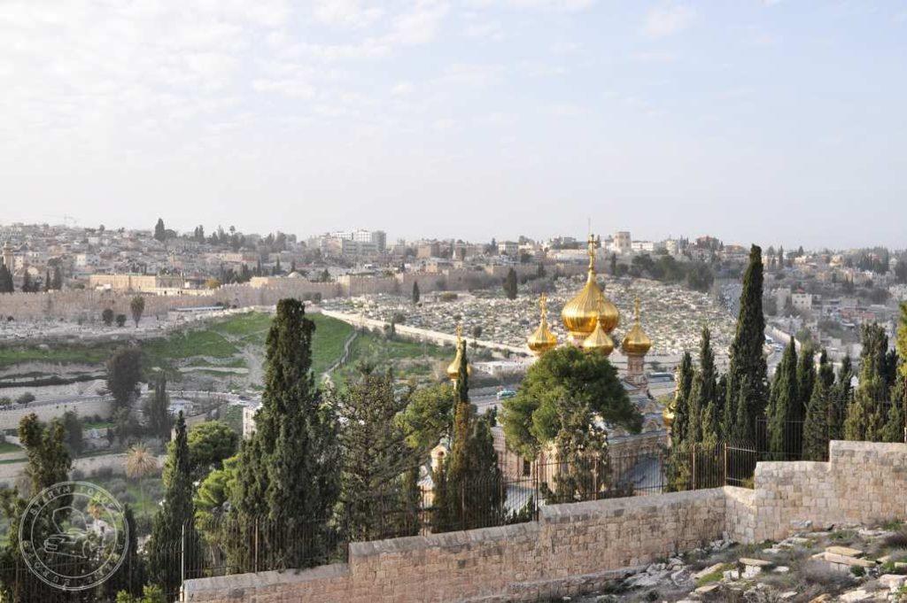 Kościół Marii Magdaleny widziany z Góry oliwnej